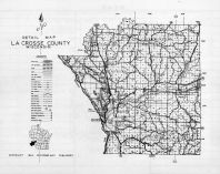 La Crosse County Map, La Crosse County 1954